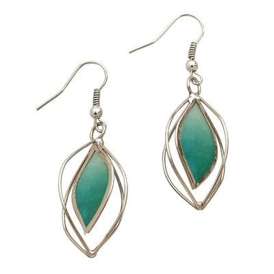 Ten Thousand Villages Precious Sage Capiz Earrings