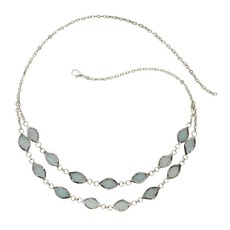Ten Thousand Villages Soft Shimmer Capiz Necklace