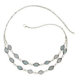 Ten Thousand Villages Soft Shimmer Capiz Necklace