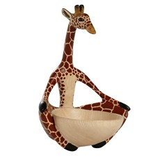 Ten Thousand Villages Yoga Giraffe Bowl