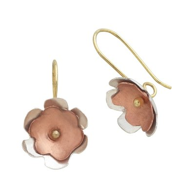 Ten Thousand Villages Copper Blossom Earrings