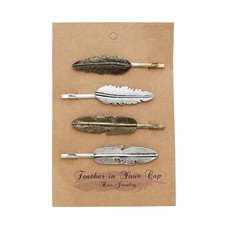 Ten Thousand Villages Feather Folklore Hair Pin