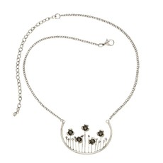 Ten Thousand Villages Silver Meadow Necklace