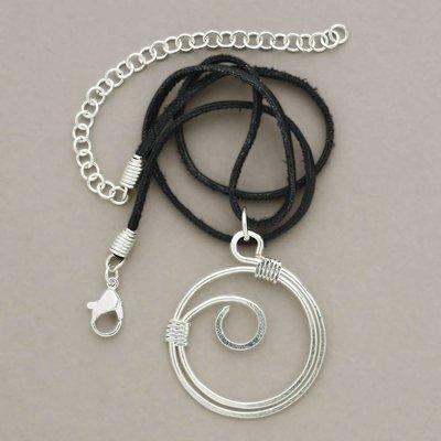 Ten Thousand Villages Silver Wave Pendant Necklace