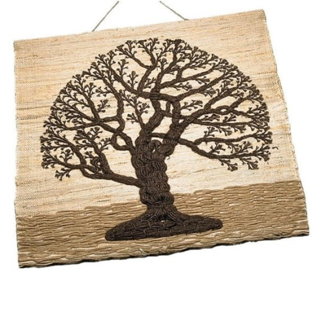Ten Thousand Villages Jute Tree of Life Wall Hanging