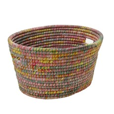 Ten Thousand Villages Bright Day Sari Laundry Basket