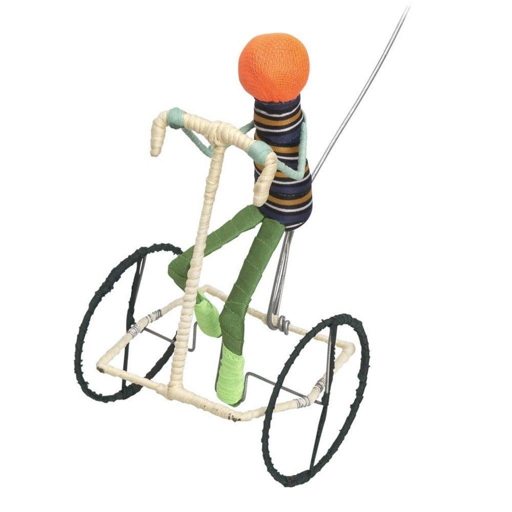 Ten Thousand Villages Galimoto Boy Cyclist