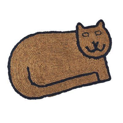 Ten Thousand Villages Kitty Clean Doormat