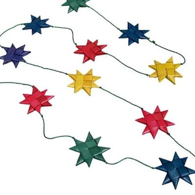 Ten Thousand Villages Multicolored Star Garland