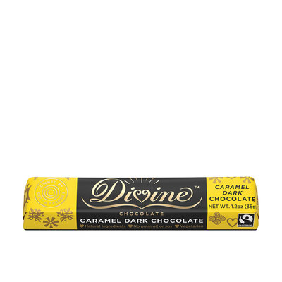 Divine Chocolate Caramel Dark Chocolate Small Bar 1.2oz