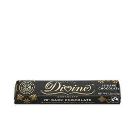 Divine Chocolate 70% Dark Chocolate Small Bar 1.2oz