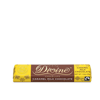 Divine Chocolate Caramel & Milk Chocolate Small Bar 1.2oz