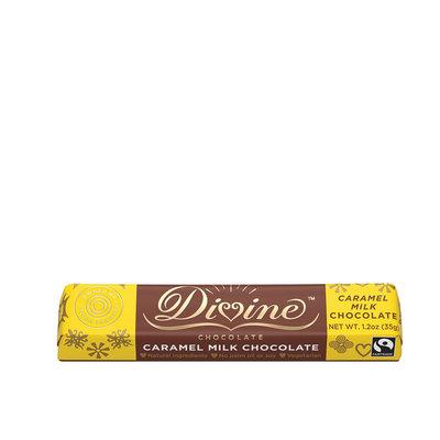 Divine Chocolate Caramel & Milk Chocolate Small Bar 1.2oz