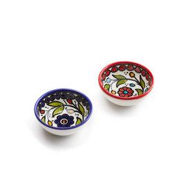 Serrv Ceramic Dipping Bowl Blue or Red