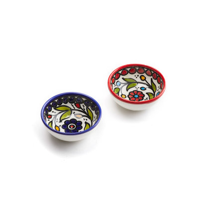 Serrv Ceramic Dipping Bowl Blue or Red