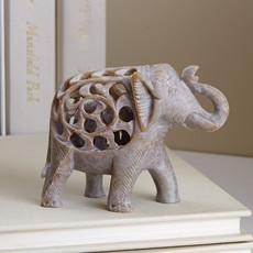 Serrv Double Carved Gorara Elephant