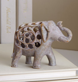 Serrv Double Carved Elephant