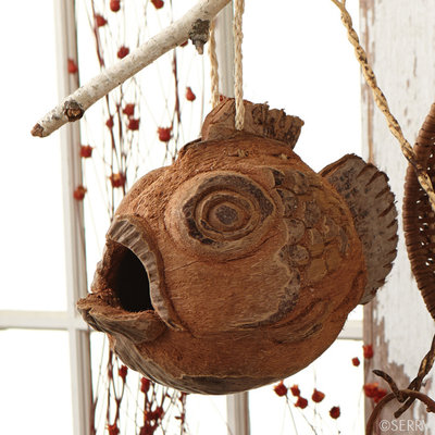 Serrv Coconut Fish Birdhouse