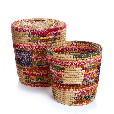 Serrv Pop Top Chindi Basket Large