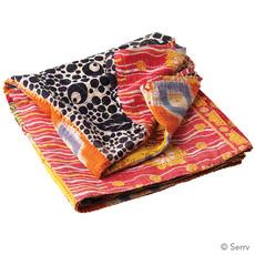 Serrv Kantha Patchwork Square Throw 56x56 Assorted