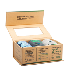 Conscious Step Gift Box: Socks that Protect the Planet Medium