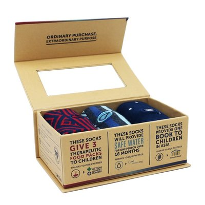 Conscious Step Socks Gift Box: Hunger Water Books Medium