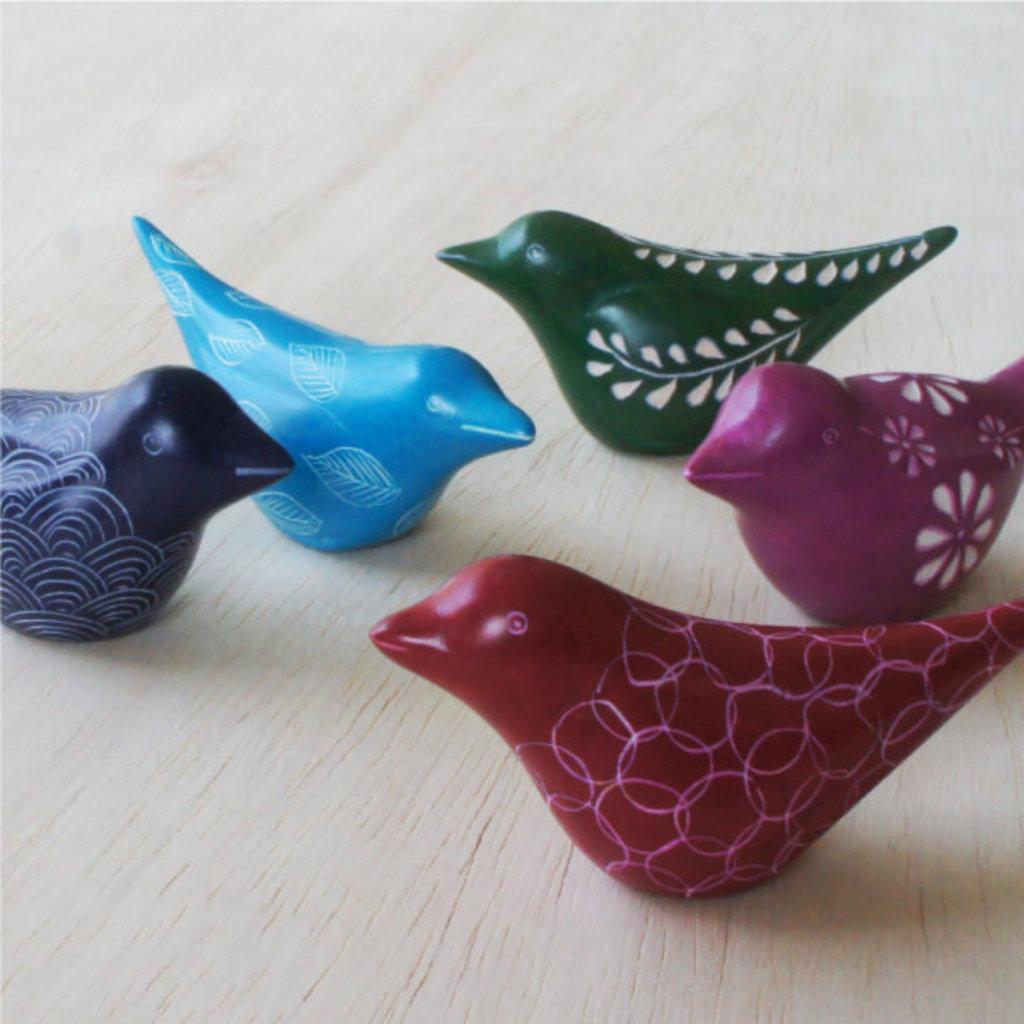 Venture Imports Handcarved Soapstone Bird