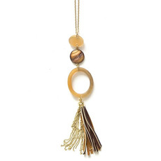 Fair Anita Outback Pendant Tassel Necklace