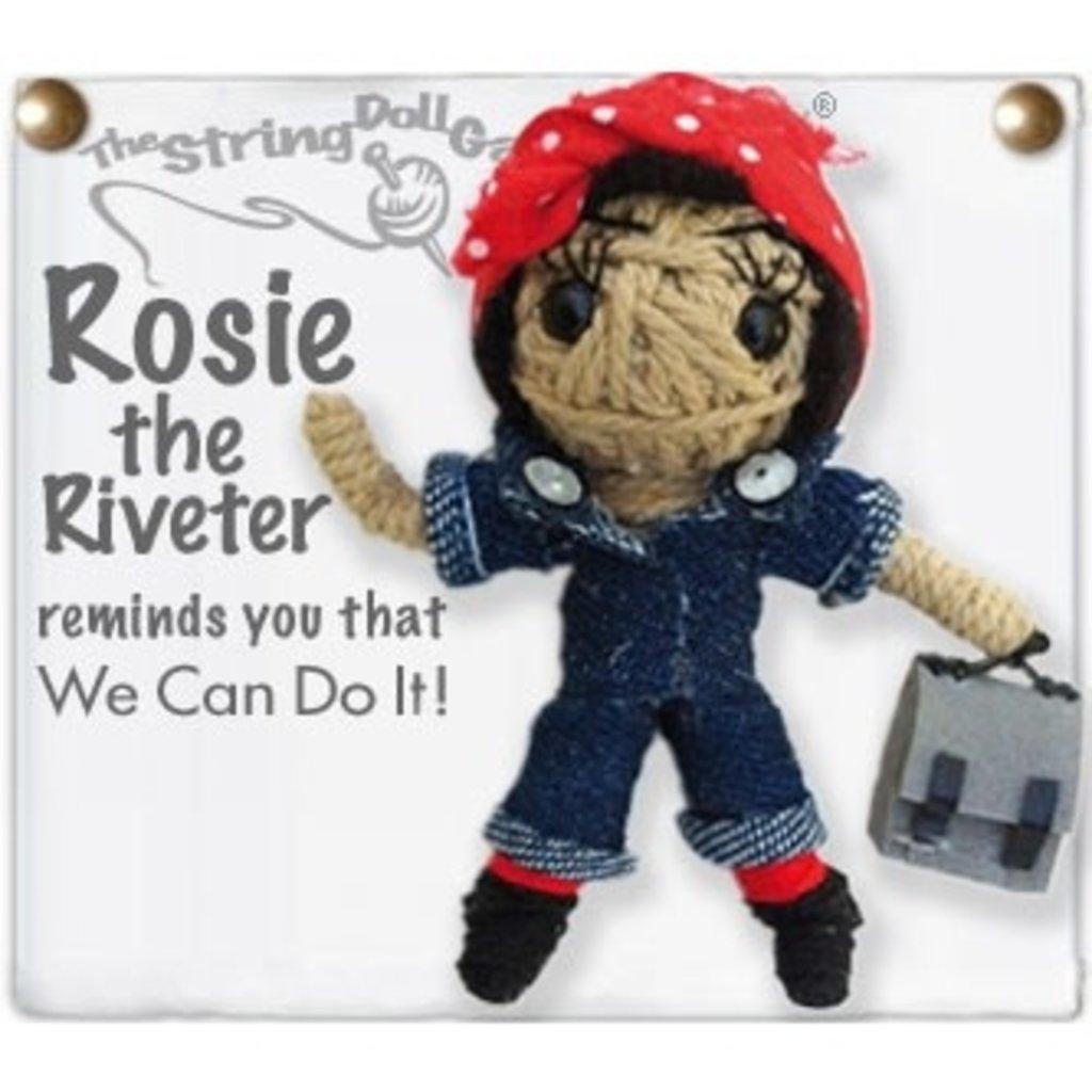 Kamibashi Rosie the Riveter String Doll Keychain
