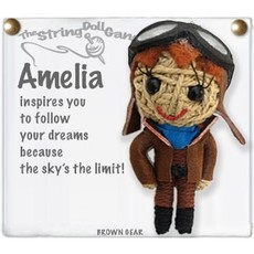 Kamibashi Amelia String Doll Keychain