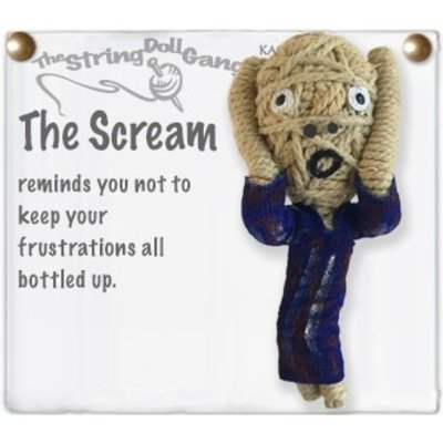 Kamibashi The Scream String Doll Keychain