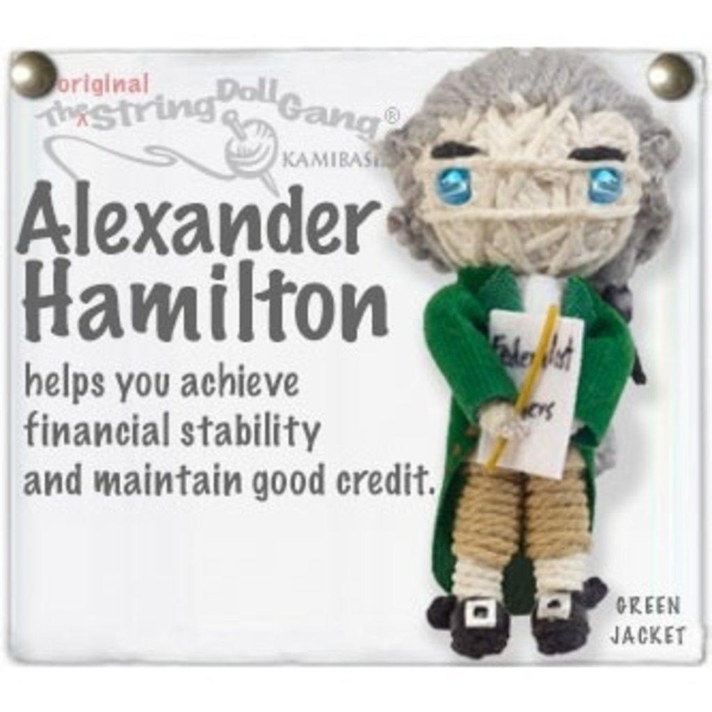 Kamibashi Alexander Hamilton String Doll Keychain