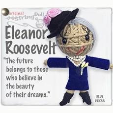 Kamibashi Eleanor Roosevelt String Doll Keychain