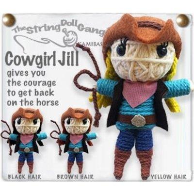 Kamibashi Cowgirl String Doll Keychain