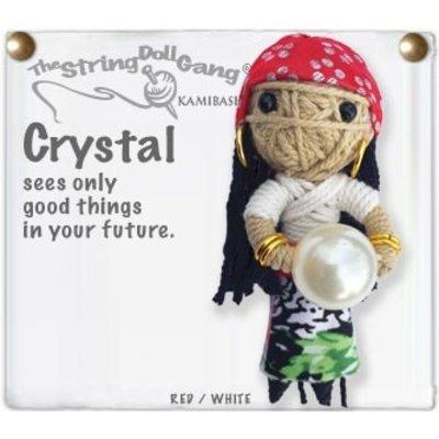 Kamibashi Crystal String Doll Keychain