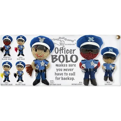 Kamibashi Officer Bolo String Doll Keychain