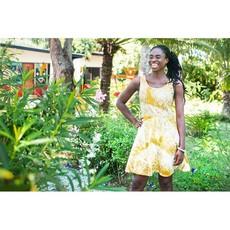 Global Mamas Mustard Fans Ava Dress