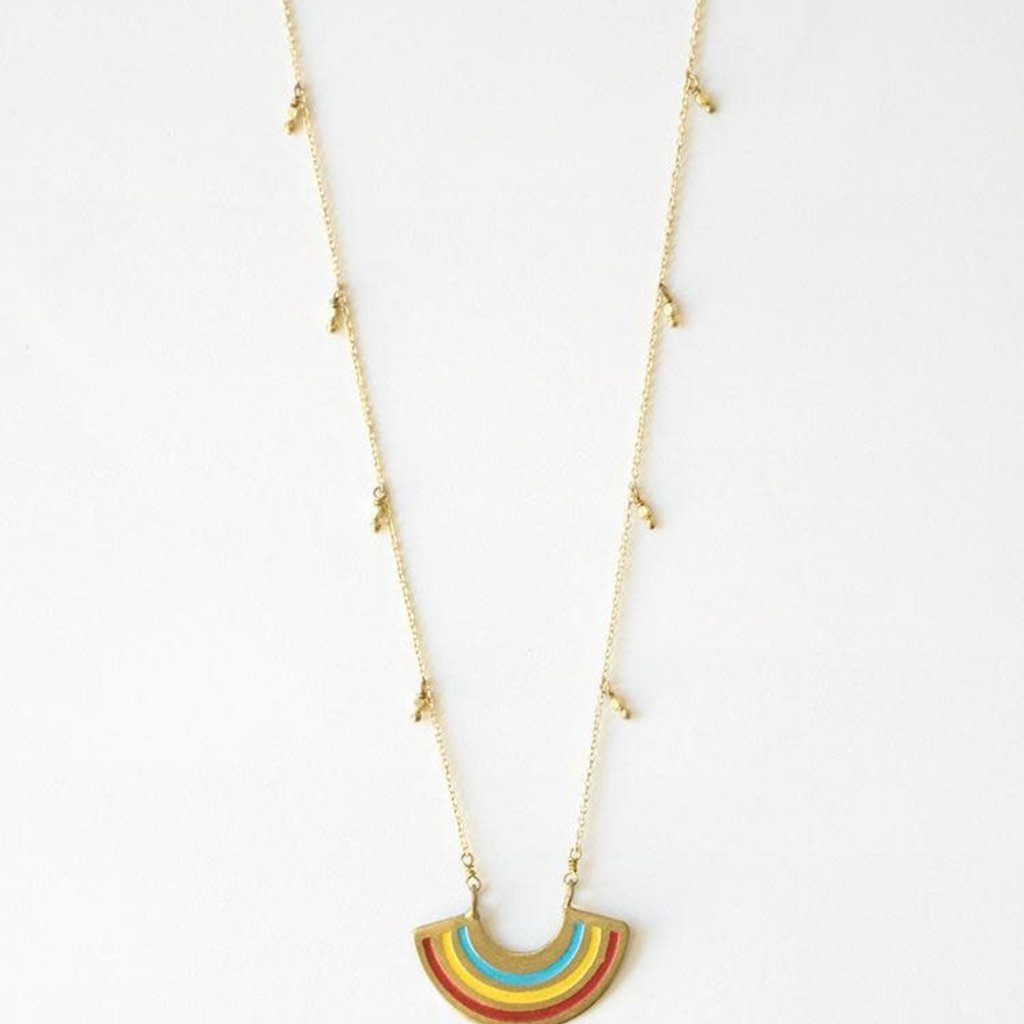 Mata Traders Petite Rainbow Necklace