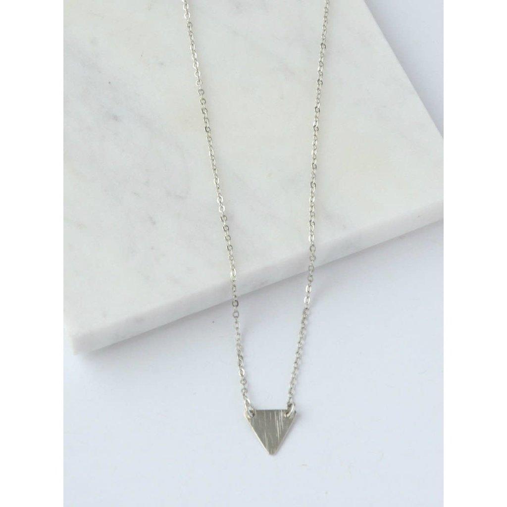 Fair Anita Clarity Triangle Necklace Silver