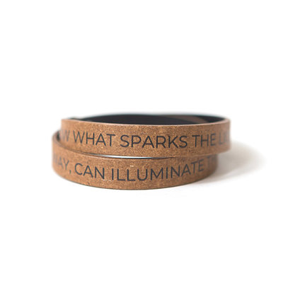 Fair Anita llluminate the World Leather Wrap Bracelet