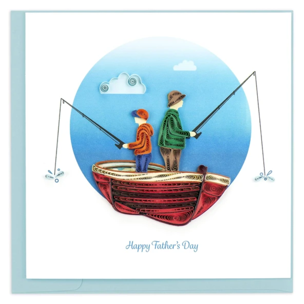 Quilling Card Father's Day Fishing Quilled Card