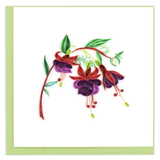 Quilling Card Fucshia Flower Quilled Card