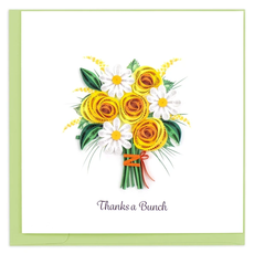 Quilling Card Thanks a Bunch Quilling Card