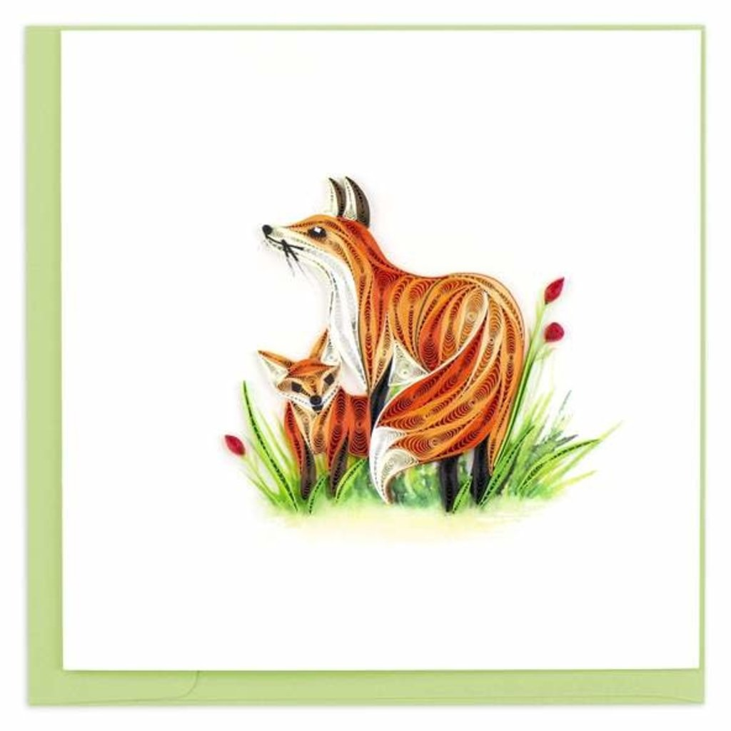 Quilling Card Fox & Cub Quilled Card