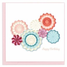 Quilling Card Birthday Paper Fans Quilled Card