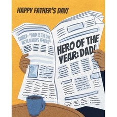 Good Paper Hero of the Year Father's Day Card