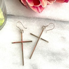 Global Crafts Sterling Silver Cross Earrings