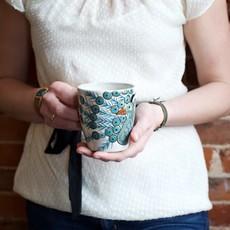 Lucia's Imports Peacock Mug
