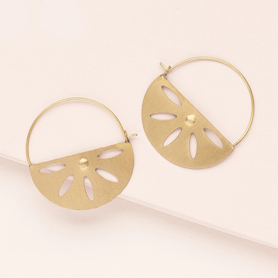 Matr Boomie Chameli Petal Hoop Earrings