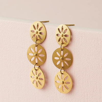 Matr Boomie Chameli Petal Drop Earrings